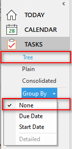 Grouping of tasks